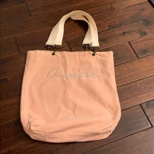 Aeropostale Reversible Pink & Tan Canvas Tote Bag